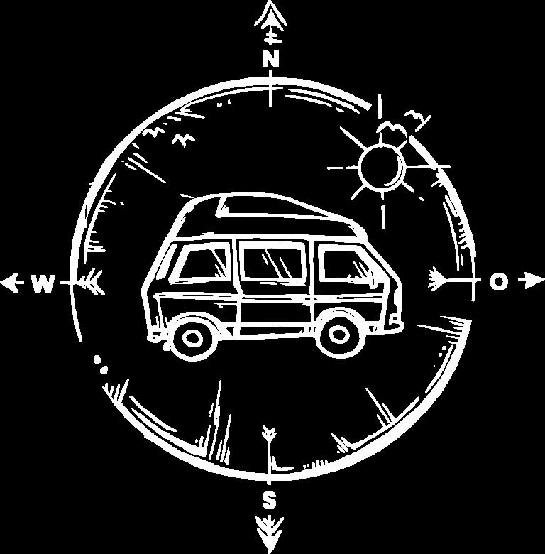 Camper mieten Rostock nach Schweden - bincampen Logo weiß