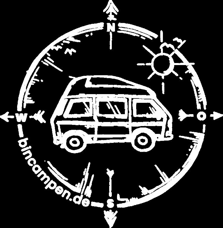Camper mieten Rostock bincampen Logo weiss